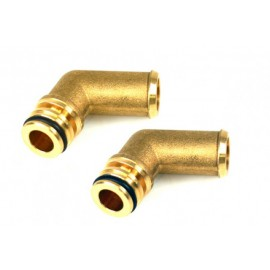 Water Connections (2x) Landi Li10 - Brass