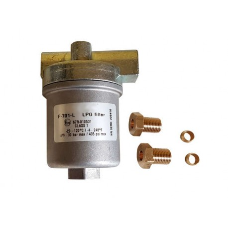 LPG Filter High Pressure 8mm connection Large capacity