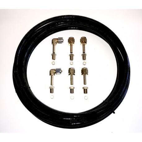 LPG-Pipe Plastic vapour tank 8mm x 5m with 6 connectors