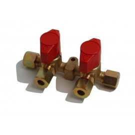Reca Quick Valve 2-way Ø8mm brass
