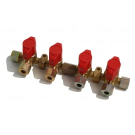 Reca Quick Valve 4-way Ø8mm brass