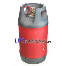 24.5L Refillable composite LPG gas bottle with 80% OPD valve filling stop