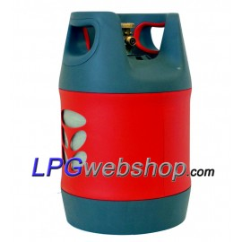 18.2L Refillable composite LPG gas bottle with 80% OPD valve filling stop