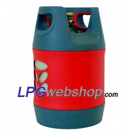 18.2L Refillable composite LPG gas bottle with 80% OPD valve filling stop