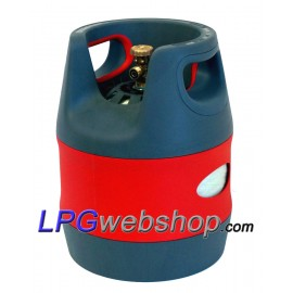 12.7L Refillable composite LPG gas bottle with 80% OPD valve filling stop