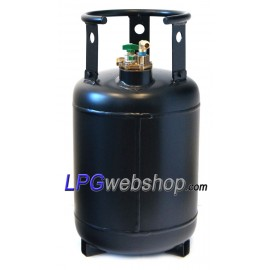 Refillable steel gas bottle 30L with 80% filling - Multivalve