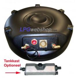 LPG Toroidal Tank 53,5L (600x230) - GZWM 4 Hole incl. Valves