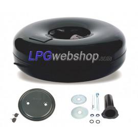 LPG-Tank Toroidal 50L (650x200) 1-Hole Multivalve