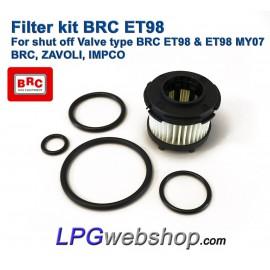 LPG Filter Liquid Gas BRC ET98 Valve - BRC Genius, ZAVOLI, IMPCO