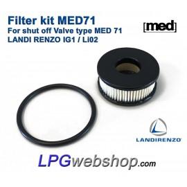 LPG Filter Liquid Gas MED 71 - Valve MED 71 Landi Renzo IG1 Li02