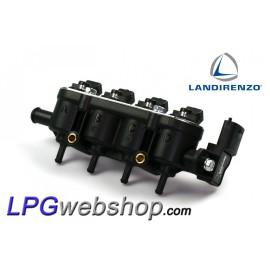 Landi Renzo LPG Injector Rail RGI MED - 4 x Injectors AMP / Bosch Connector - Incl Pressure Sensor 3.5bar