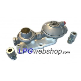 LPG Vapour Gas Pressure Reducer Regulator 30mbar - 5kg/h