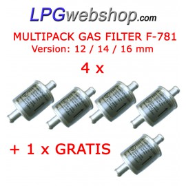 LPG Filter Dry Gas F-781 MultiPack 4x + 1 Free | Aluminum Disposable