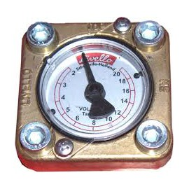 LPG tank clock for level indication without sensor / wiring