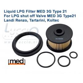 LPG Filter Liquid Gas MED 3G type 21 - Valve MED21 3G Landi Renzo, Tartarini, Koltec, Landi