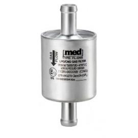 LPG Drooggas Filter MED aluminium wegwerp FL-ONE aansluitingen 2 x 14mm